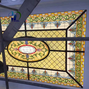 stained glass mosaic dome tiffany glass window panels