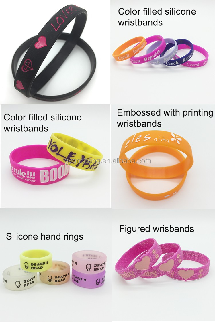 Logo Printing Silicone Bracelet Color Silicone Wristband