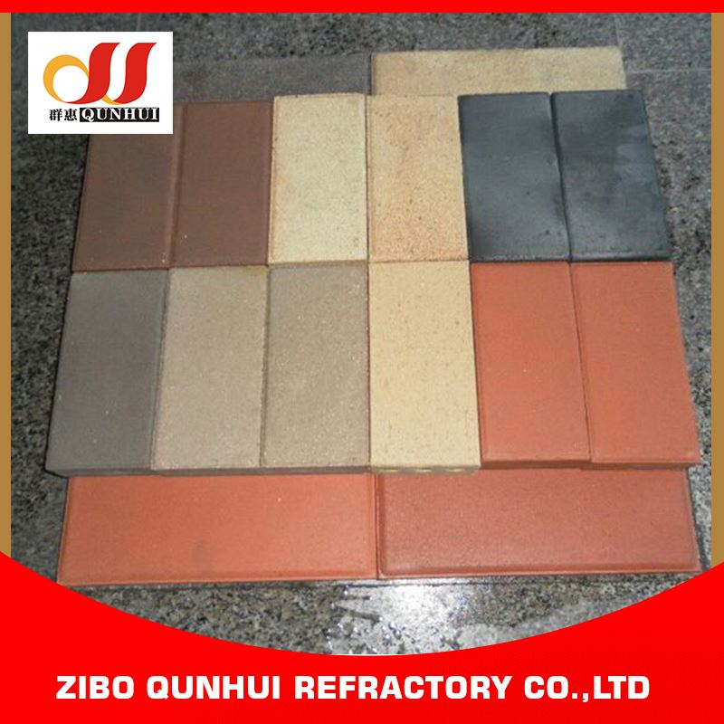 water retention colourful clay paving bricks raw material