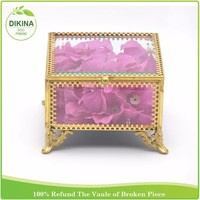 pocket ring classic custom display case brass >< Valentines Indian Pakistan decorative glass wedding favor return gift box