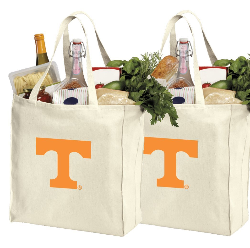 Reusable University of Tennessee Shopping Bags or Tennessee Vols Grocery Bag 2Pc SET