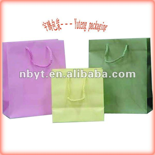 2011 paper bags for shopping