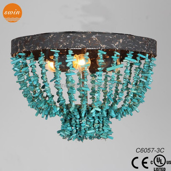 New design lamp vintage turquoise ceiling lightwrought iron new design lamp vintage turquoise ceiling lightwrought iron lighting fixture mozeypictures Gallery