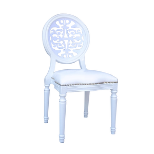 royal white PU banquet imitated white wedding chairs for hire