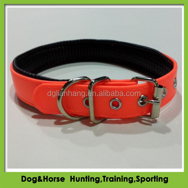 hot selling imperial hunting dog collar PVC with metal roller buckle for sale
