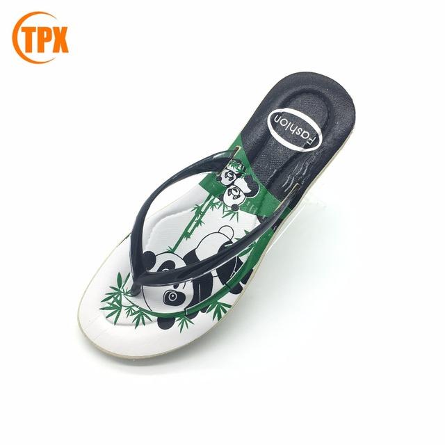 155859943 Chinese style new design fashion flat summer sandals 2017 woman pvc flip  flop slipper