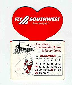 Buy Fly Southwest Airlines 1987 Calendar Love That Spirit Swn In