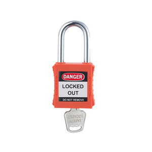 38mm Short Metal Shackle Abs Lock Body Keyed To Alike Plastic Safety Padlock