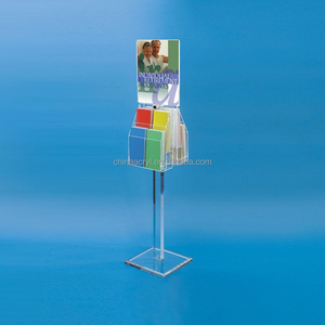 floor standing acrylic brochure holders sign holders