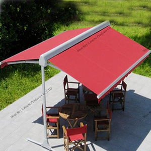 Coffee shop aluminium retractable two-sided awning