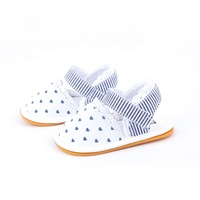 Lovely summer dots soft sole baby sandals girls newborn baby shoes