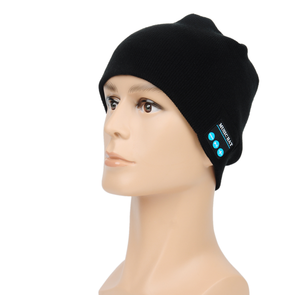 Hot Wireless music beanie hat Smart Caps Headset earphone Warm Beanies with Speaker Mic for Outdoor sports