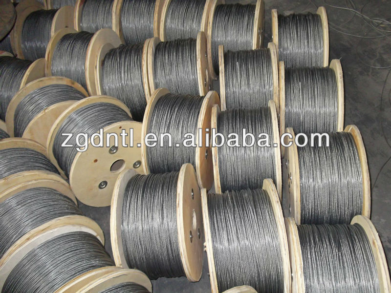 Manufacture Galvanized Steel Crane wire rope With 6 x 19 6mm