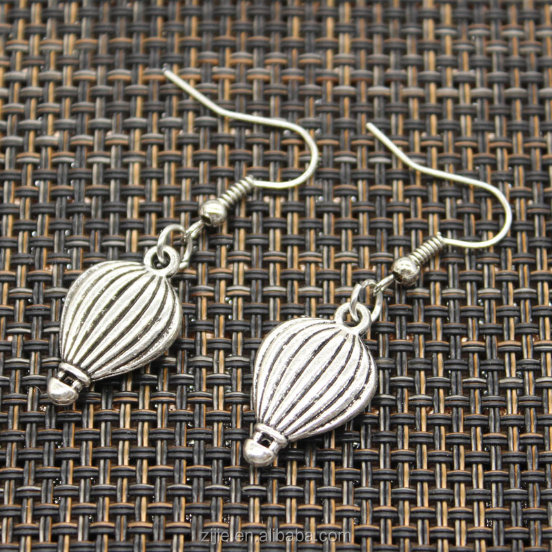 Wholesale elegant women jewelry simply style hot air balloon design drop earrings