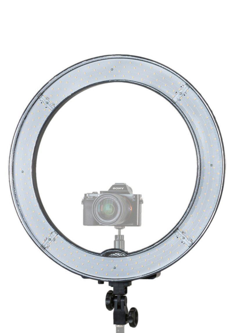Prismatic LED Halo Ring Light with 6' Light Stand for Photo/Video Lighting