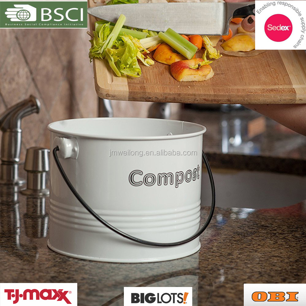 Countertop Indoor composter with lid and odor-absorbing filter kitchen compost bin