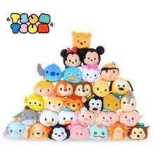 Tsum Tsum Mini 9 cm Plush doll Brinquedos Limpador de Tela dentro fora Mickey Minnie urso