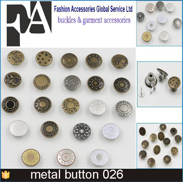 Cheap price custom made logo metal jean button rivet, jeans buttons and rivet