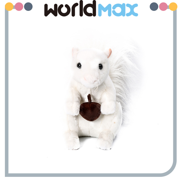 Factory Price Promotional Stuffed Cartoon White Squirrel Plush Baby Toy