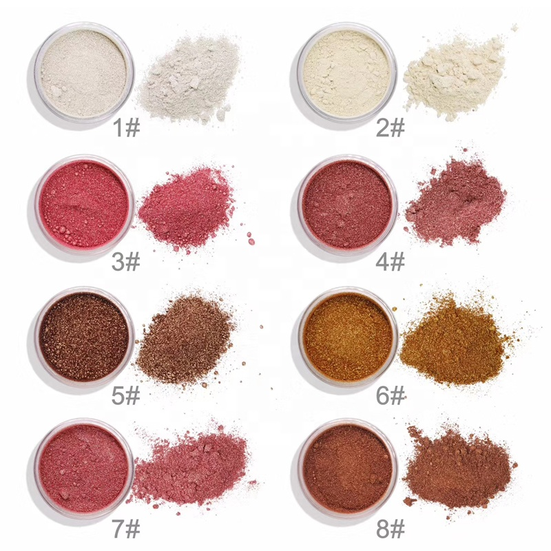 Hot sale high pigment private label makeup loose highlighter, 8 colors for you choose