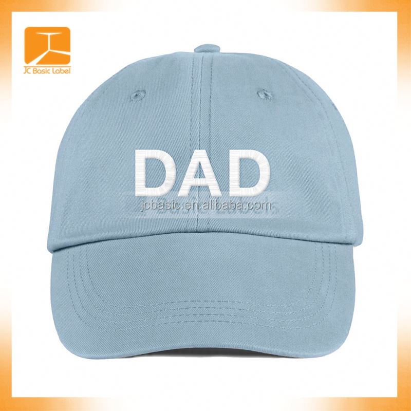 Custom Cotton unstructured dad hat 6 panel cotton baseball cap
