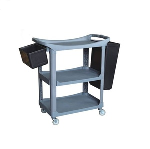 Plastic service cart restaurant plate collection trolley room service cart / hotel service cart food trolley