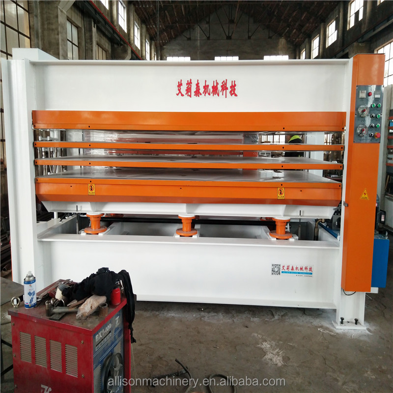 Allison Electric heating of heat-conducting hydraulic heat press machine wood press hot laminating machine 1-8layers