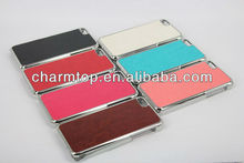 High Quality PU Leather Electroplate Case For iPhone 5C