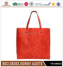 Fashion Orange Bright-Colored Suede Handbag for Women Top Grade
