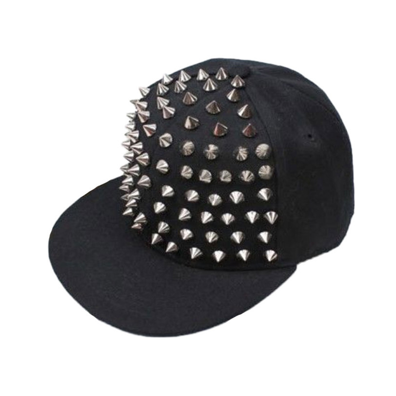 Бестселлер панк ежик рок хип-хоп серебряный заклепки стад спайк колючие шляпа шапка бейсболка з . к .