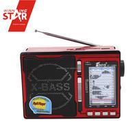 Red ABS usb tf card fm radio mp3 player clock retro radio