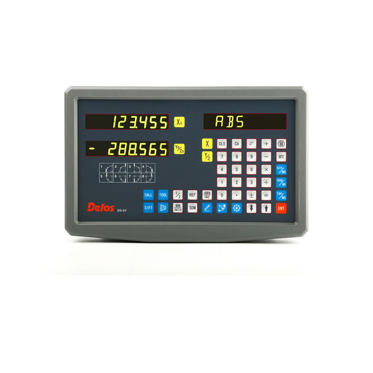 Delos 7 segment LED display H with 2 axis precision digital readout dispaly
