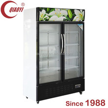 Beverage refrigerator flower glass Three door beer cooler