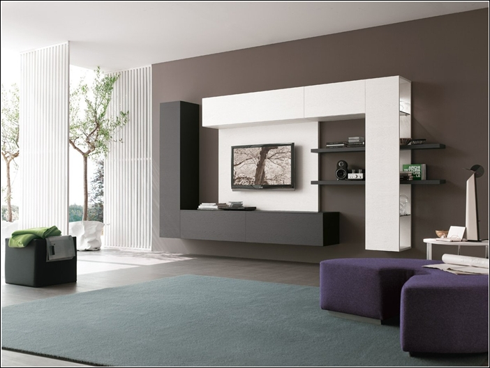 Contemporary Tv Lcd Cabinets With Showcase