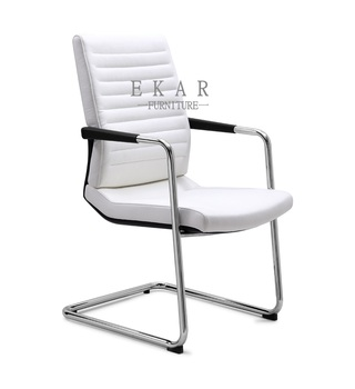 Pure White Pu Office Chair Made In China