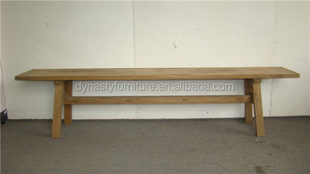 Simple Natural Antique Wooden Indoor Bench Seat