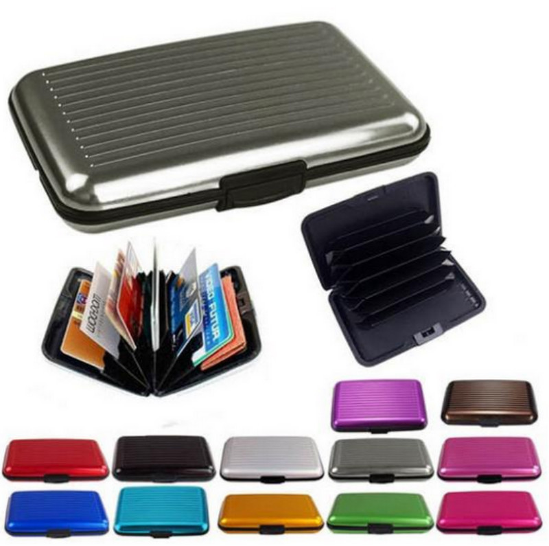 Buy waterproof business id credit card wallet holder aluminum metal buy waterproof business id credit card wallet holder aluminum metal pocket case for men women 8 colors in cheap price on mibaba colourmoves