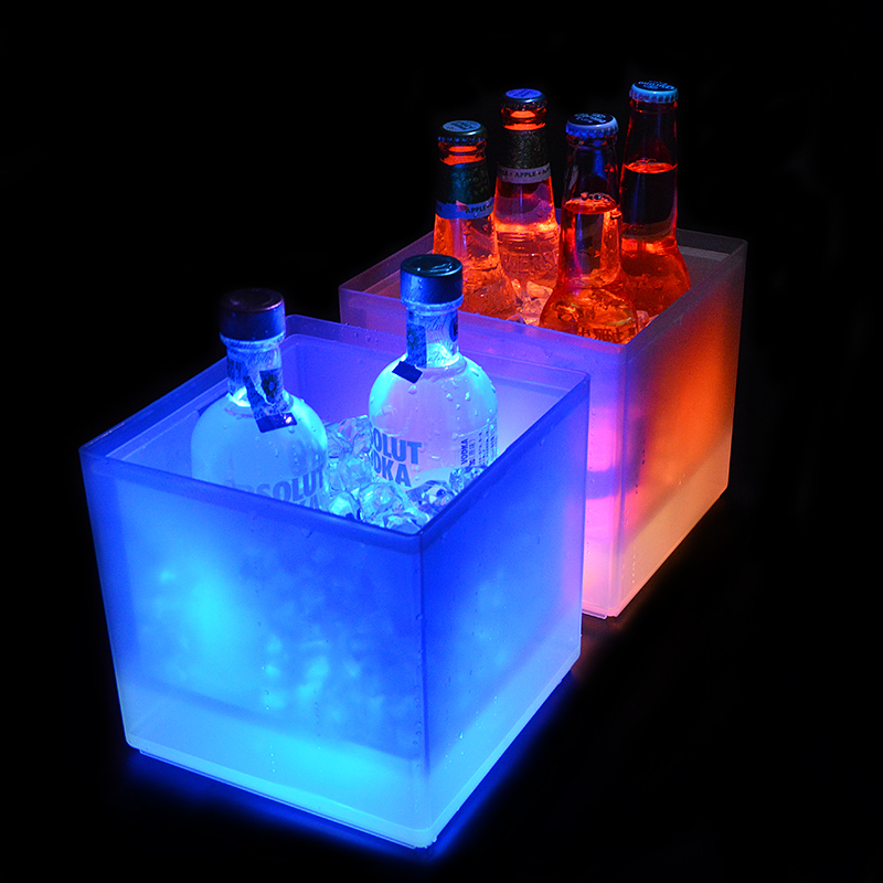 China groothandel bier wijn champagne acryl led custom ijsemmer, led ice koeler