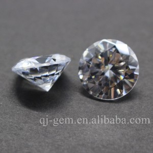 Round Brilliant machine cut Machine Cut Cubic Zirconia Zircon Price 5mm White CZ Stone