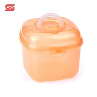 Eco friendly small storage seal square plastic box with handle