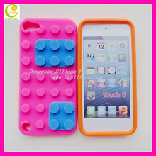 Various color silicone lego case for iphone 5(you can put the lego by yourself)