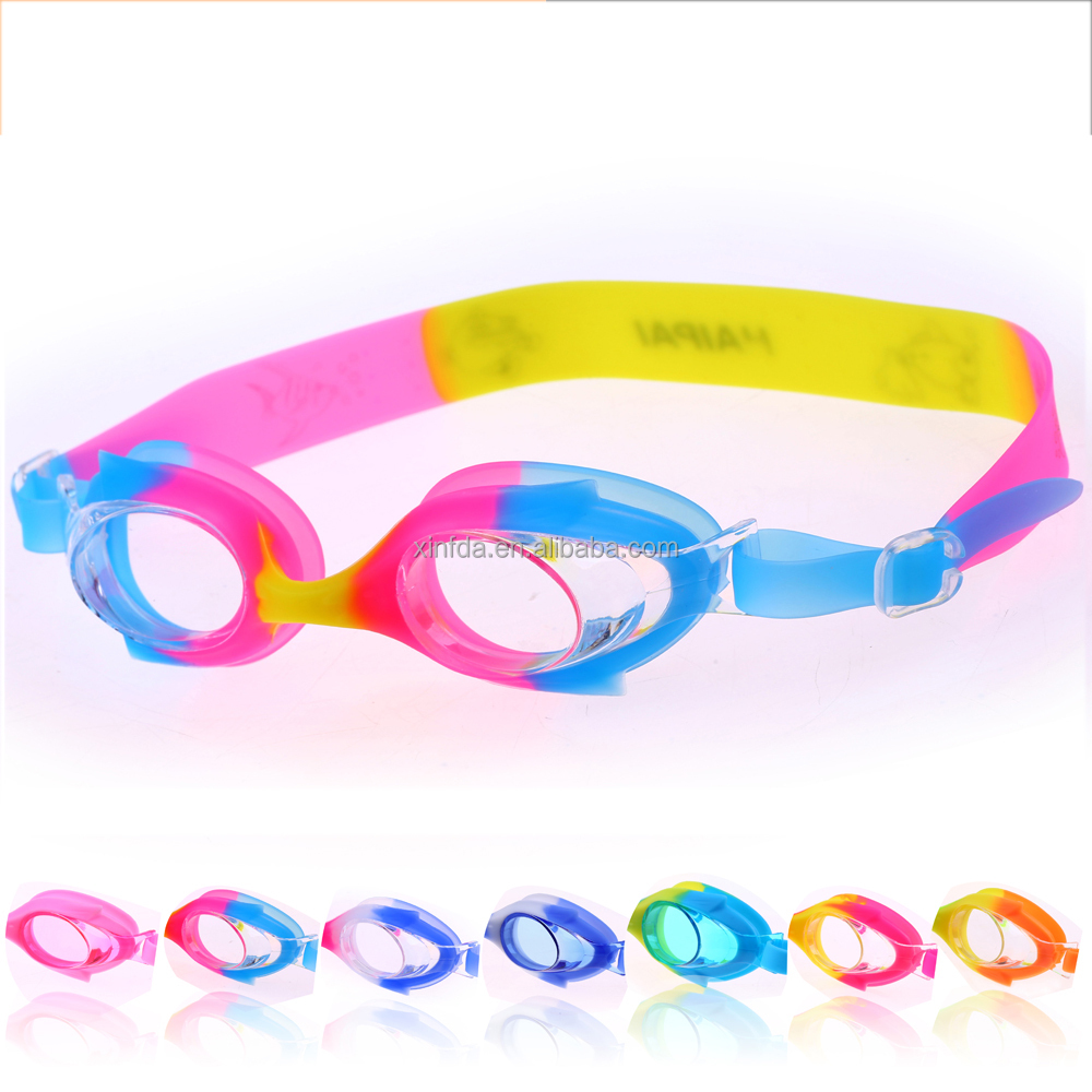 Best Hot Sale Waterproof Kids Cartoon Funny Silicone Rubber Swimming Goggles