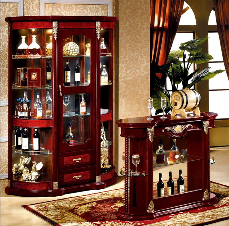 Egyptian Made Furniture Office / Dining Room Bar Counter Cabinet in Set