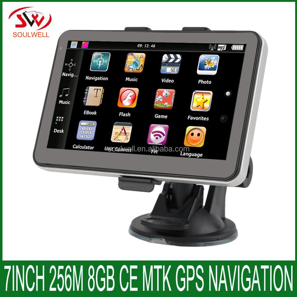 7inch TFT LCD Display Car GPS Navigation SAT NAV 8GB Navigator with Sunshade JW