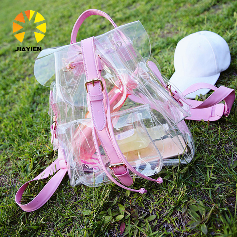 2016 Jelly Shoulder Bag Summer New Transparent Bags Korean Version Casual Female Bag Clear Personalized <strong>Backpacks</strong>