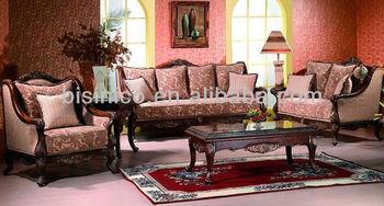 Luxury Arabia Style Sitting Room Fabric Sofa Neo Clical Living Furniture Hand