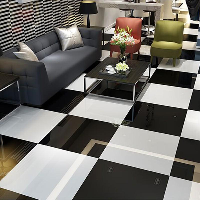 Pure Super Black Polished Porcelain Floor Tile Buy Porcelain