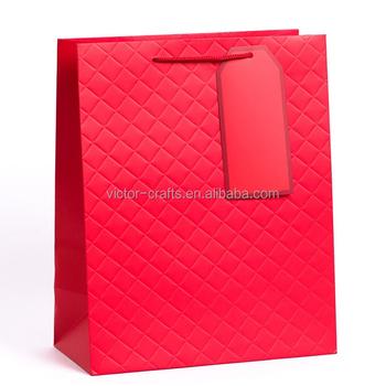 bolsas mano Promocional papel de rojo gran bolso de mini regalo bolsa acolchado de 66xqBwvO