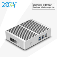XCY Dual core Core I3 5005U X86 mini pc computer 8G RAM 320G hard disk Windows10 gaming pc