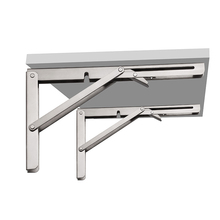 Heavy Duty 90 Degree Large Decorative Table Iron Stainless Steel Adjustable Angle Shelf Wall Mounted Metal Table Folding Bracket